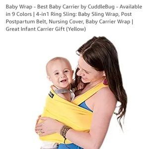Cuddle Bug Baby Wrap/Carrier